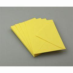 Briefumschlag C6 gelb intensiv