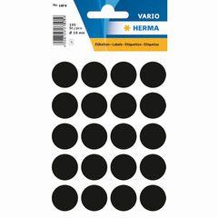 Etikett 19mm Farbpunkt schwarz