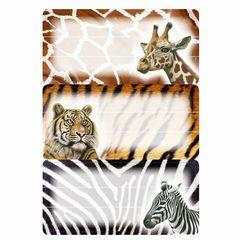 Heftetikett afrikanische Tiere