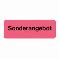 Etikett SONDERANGEBOT