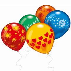 Luftballon bunt bedruckt