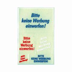 Etikett BITTE KEINE WERBUNG