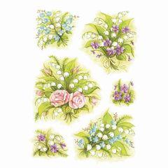 Sticker Blumenstrauß Maiglöckchen