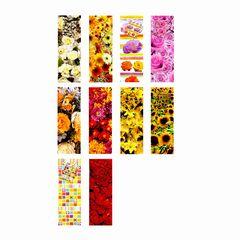Flaschentüte mit Blumenmotiv