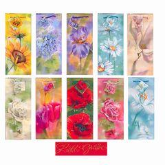 Flaschentüte Jumbo mit Blumenmotiv