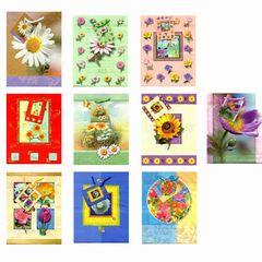 Geschenktüte medium Blumenmotiv