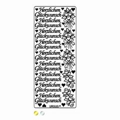Kreativ-Sticker HERZL.GLÜCKWUNSCH