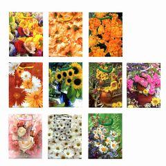 Geschenktüte mini mit Blumenmotiv