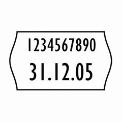 Etikett f.Handauszeichnung 16*26mm