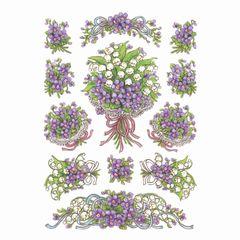 Sticker Blumenstrauß Veilchen