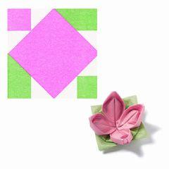 Origami-Servietten Seerose pink