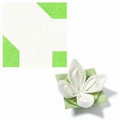 Origami-Servietten Seerose weiß