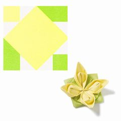 Origami-Servietten Seerose gelb