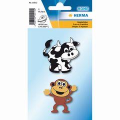 Bügelbilder Kuh und Affe