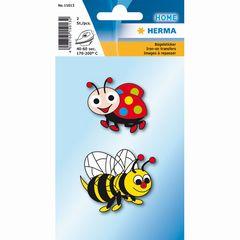 Bügelbilder Biene und Marienkäfer