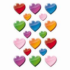 Sticker bunte Herzen