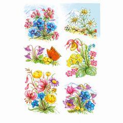 Sticker Gebirgsblumen