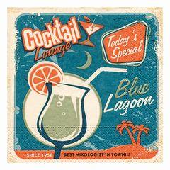 Servietten Blue lagoon