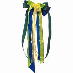 Schultütenschleife blau/grün/gelb