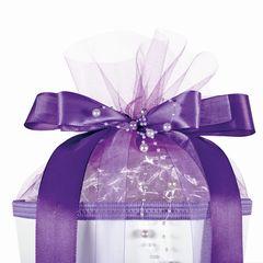 Schultüten-Schleife Purple Pearls