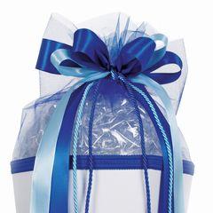Schultüten-Schleife Kordel blau