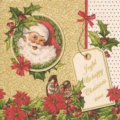 Serviette Joyful Christmas