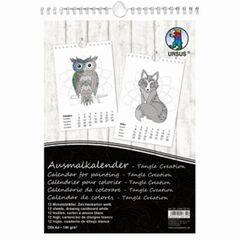 Ausmalkalender  Tangle  A4