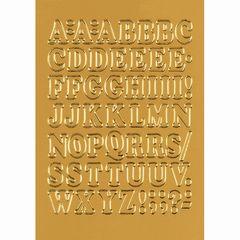 Sticker Buchstaben 12mm A-Z gold
