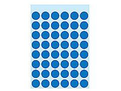 Etikett 12mm Farbpunkt dunkelblau