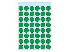 Etikett 12mm Farbpunkt dunkelgrün