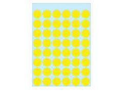 Etikett 12mm Farbpunkt gelb