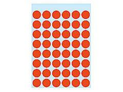 Etikett 12mm Farbpunkt rot