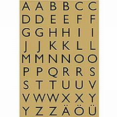 Sticker Buchstaben A-Z 13*12mm Gold