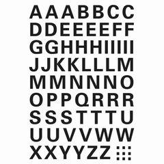 Sticker Buchstaben A-Z 10mm schwarz