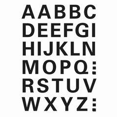 Sticker Buchstaben A-Z 15mm schwarz