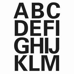 Sticker Buchstaben A-Z 25mm schwarz