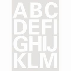Sticker Buchstaben A-Z 25mm weiß