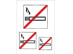 Hinweisetikett Nicht rauchen
