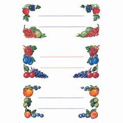 Einmachetikett Beeren