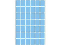 Etikett 16*22mm blau 1344 Stück