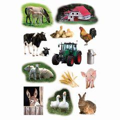 Sticker Bauernhoftiere