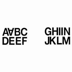 Sticker Buchstaben A-N wetterfest