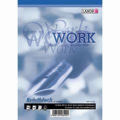 Briefblock A5 WORK liniert