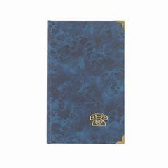 Adressbuch A5 mit Messing-Ecken