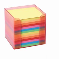 Zettelbox 9*9*9cm farbig sortiert