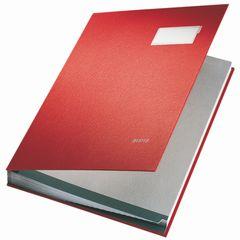 Unterschriftsmappe A4 20 Fächer rot