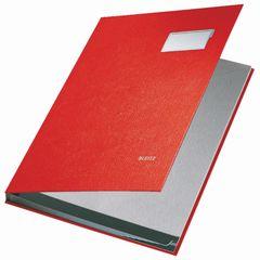 Unterschriftsmappe A4 10 Fächer rot