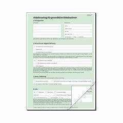 Arbeitsvertrag A4 gewerblich