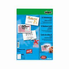 Visitenkarten 3C 85*55mm (A4) weiß