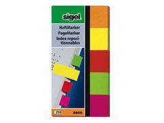 Haftmarker neon 5 Farben sortiert